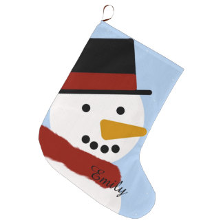Smiling Snowman Stocking