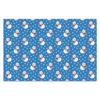Smiling Snowmen In The Falling Snow Tissue Paper