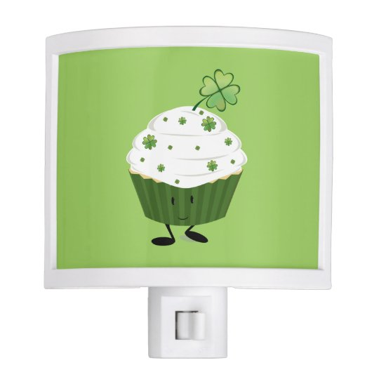 Smiling St. Patrick's day cupcake Night Lights