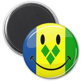 Smiling St. Vincent and Grenadines Flag Magnet