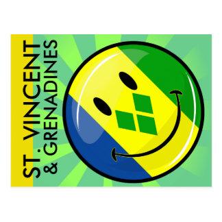 Smiling St. Vincent and Grenadines Flag Postcard