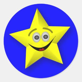 Smiling Star Teacher's Award Stickers