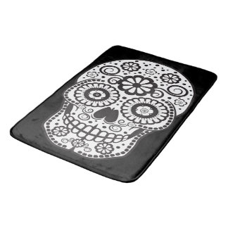 Smiling Sugar Skull Bath Mat