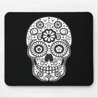 Smiling Sugar Skull Mouse Pad