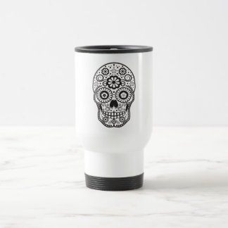 Smiling Sugar Skull Travel Mug