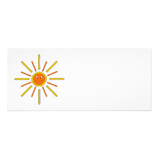 Smiling Summer Sun Yellow and Orange Personalized Invitations