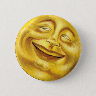 Smiling Sun 2 Inch Round Button