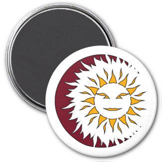Smiling Sun Eclipse Magnet