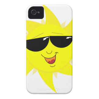 Smiling Sun Face In Sunglasses iPhone 4 Case-Mate Cases