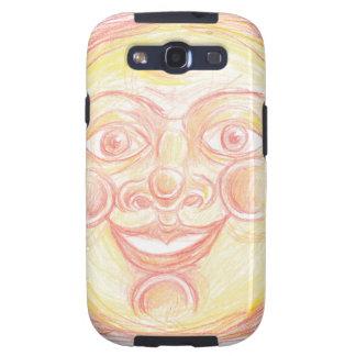 Smiling Sun Face Samsung Galaxy S3 Case