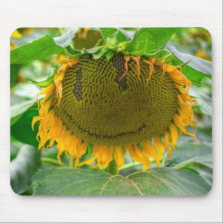Smiling Sunflower Mouse Pad