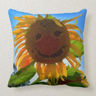 Smiling Sunflower Pillow