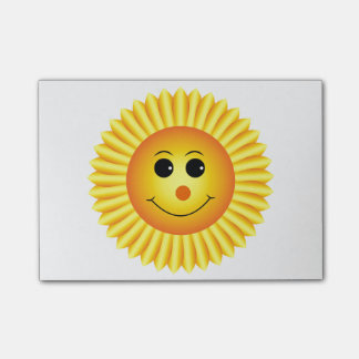 Smiling Sunflower Post-it Notes