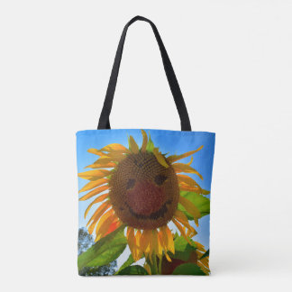 Smiling Sunflower Tote Bag