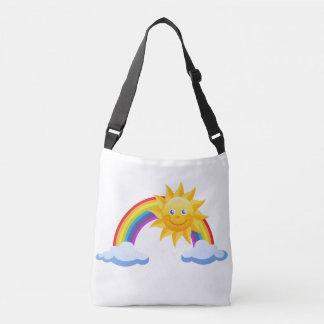 Smiling Sunshine Rainbow Crossbody Bag