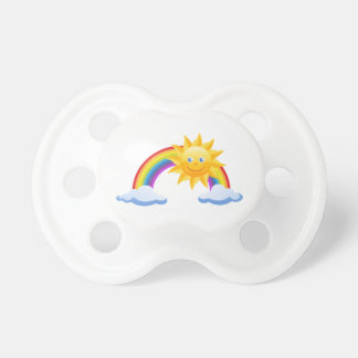 Smiling Sunshine Rainbow Pacifiers