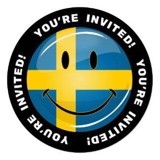 Smiling Swedish Flag Card