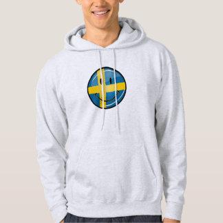 Smiling Swedish Flag Hoodie