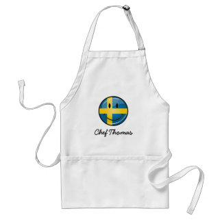 Smiling Swedish Flag Standard Apron