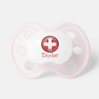 Smiling Swiss Flag Pacifier