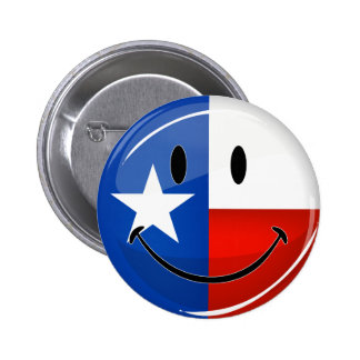 Smiling Texas Flag 2 Inch Round Button