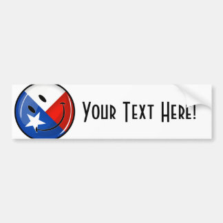 Smiling Texas Flag Bumper Sticker