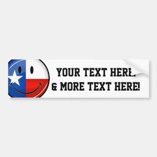Smiling Texas Flag Bumper Sticker