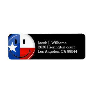 Smiling Texas Flag Return Address Label