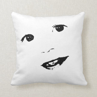 Smiling Toddler Boy Face Throw Pillow