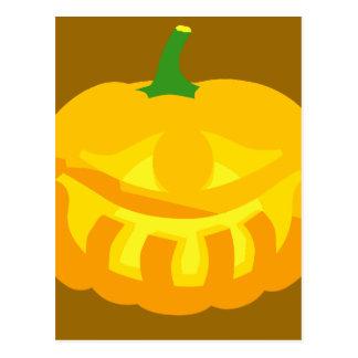 Smiling toothy Jack-O-'Lantern Post Card