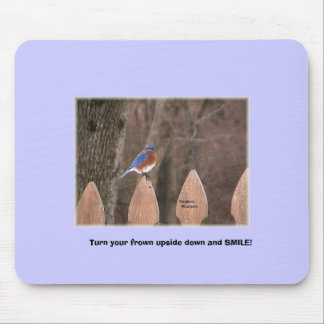 Smiling tree mouse pad
