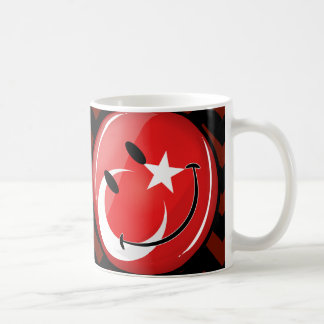 Smiling Turkish Flag Coffee Mug