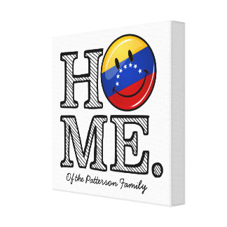 Smiling Venezualan Flag Housewarming Canvas Print