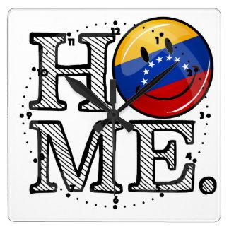 Smiling Venezualan Flag Housewarming Square Wall Clock
