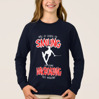 SMILING WAKEBOARDING Weekend 1 WHITE Sweatshirt
