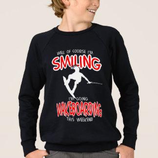 SMILING WAKEBOARDING Weekend 1 WHITE Sweatshirt