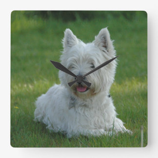 Smiling West Highland Terrier Wall Clock