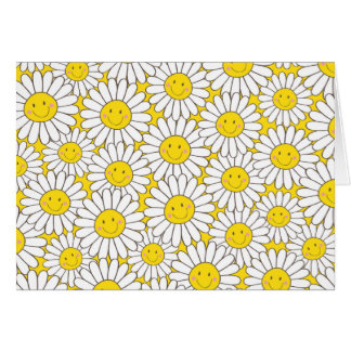 Smiling White Daisies Thank You Card