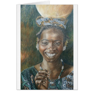 Smiling Woman with Calabash Card