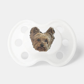 Smiling Yorkie Pacifier