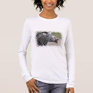 Smiling Zebra Long Sleeve T-Shirt