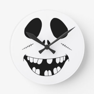 Smiling Zombie Face Wall Clocks