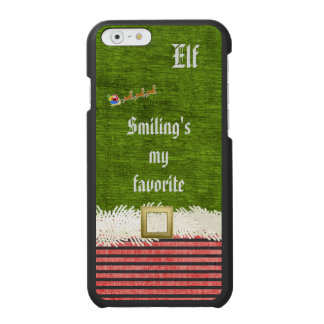 """Smiling's my favorite"" Christmas Elf Quote Incipio Watson™ iPhone 6 Wallet Case"