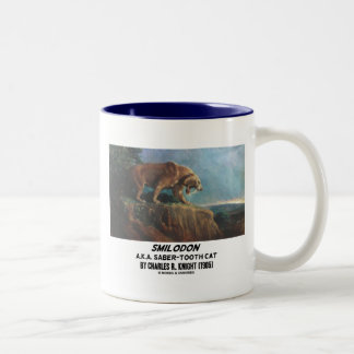 Smilodon (A.K.A. Saber-Tooth Cat) Knight (1905) Two-Tone Coffee Mug