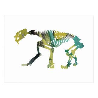 Smilodon skeleton postcard