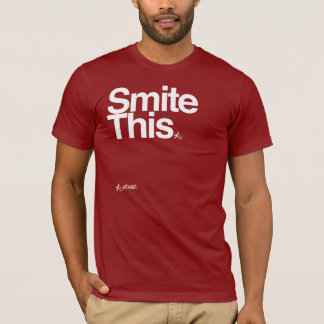 Smite this bold text t-shirt