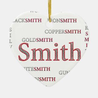 SMITH BRAND CERAMIC HEART ORNAMENT