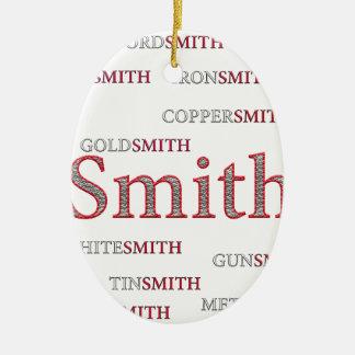 SMITH BRAND CERAMIC OVAL ORNAMENT