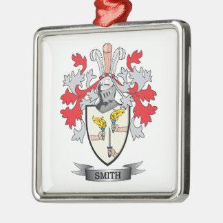 Smith Coat of Arms Silver-Colored Square Ornament