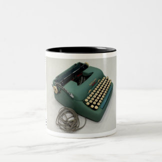 Smith-Corona Electric portable typewriter Two-Tone Coffee Mug